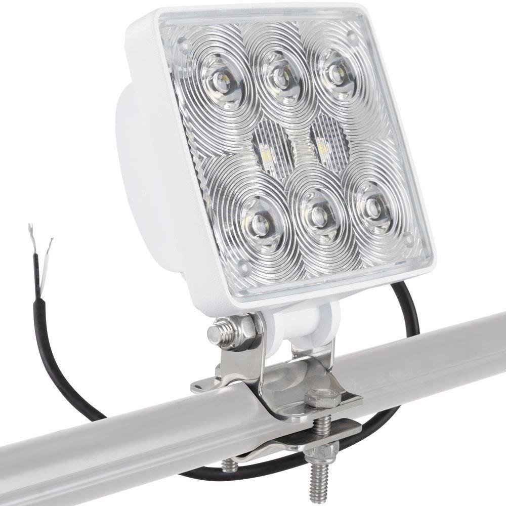 Bright White Clamp-on Marine LED Boat Spreader Light