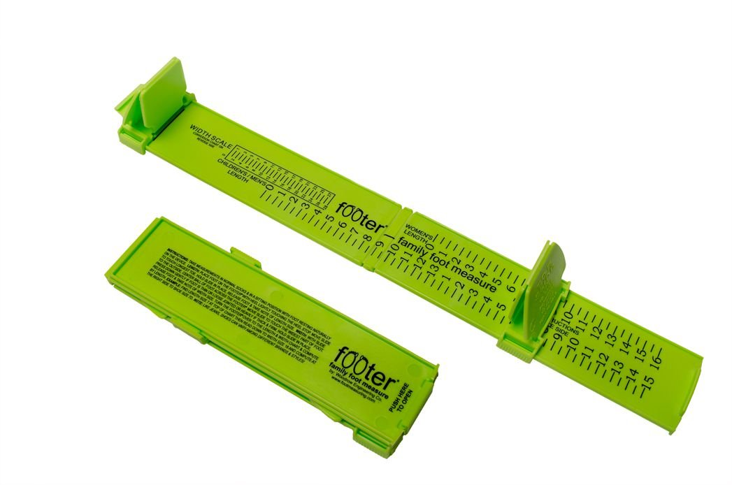 Foot Measure for Shoe Sizing at Home. Great for Buying Shoes Online! (Assorted Colors) (Green)