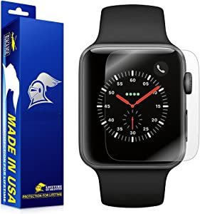 ArmorSuit Apple Watch (42mm) (Series 3/2/Nike+ Compatible) Screen Protector [2 Pack] Full Coverage MilitaryShield Screen Protector for Apple Watch (42mm) (Series 3/2) - HD Clear Anti-Bubble