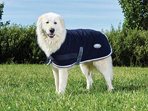Weatherbeeta Neck Cover (Weatherbeeta Fleece Dog Coat Navy/Grey/White 26