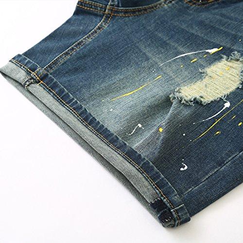 MSSHE Women's Plus Size Printed Cuffed Denim Shorts by MSSHE (Image #4)
