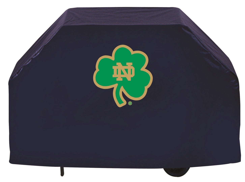 Notre Dame Fighting Irish HBS NavyアウトドアシャムロックビニールBBQグリルカバー B01ETT1I44 72