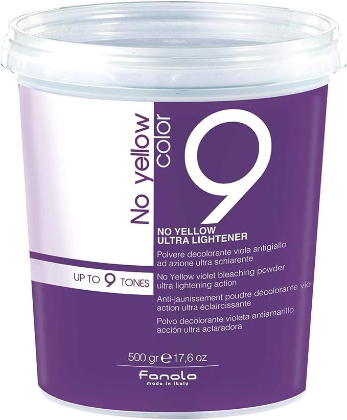 Fanola – Polvo decolorante violeta antiamarillo ultra aclarante – Cantidad 500 gr