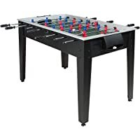 Giantex 48'' Foosball Table, Wooden Soccer Table Game w/Footballs, Suit for 4 Players, Competition Size Table Football for Kids, Adults, Football Table for Game Room, Arcades