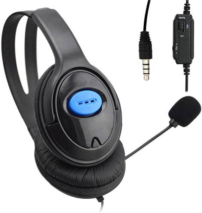 JUNERAIN - Auriculares de Diadema con micrófono para PS4, Sony, Playstation 4 y PC: Amazon.es: Deportes y aire libre
