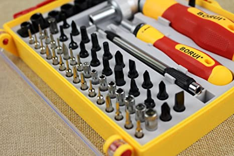 2ecdc0c892f Image Unavailable. Image not available for. Color  62 In 1 Automatic  Flexible Screwdriver Set CRV Screwdriver Kit Magnetic Screw driver Sets  With PP