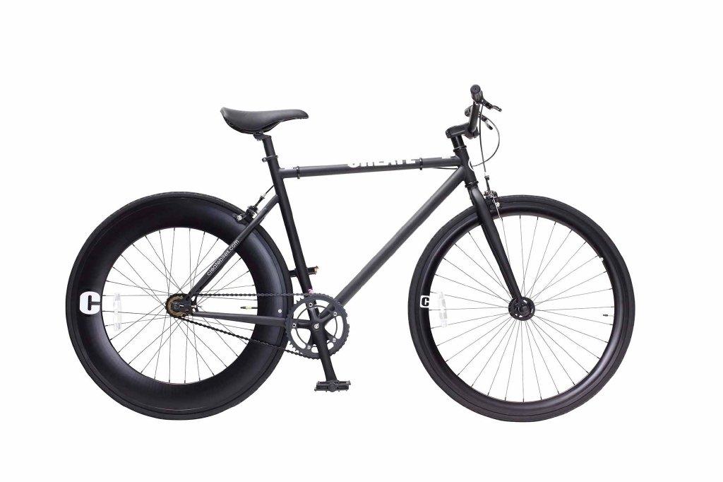CREATE 700C シングルバイク C100-(460)-BK(ブラック) B07B2W1YVN