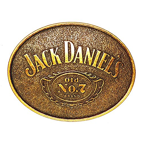 Jack Daniels Brand Label Logo Belt Buckle - -
