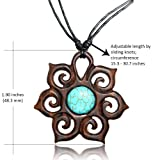 Earth Accessories Adjustable Turquoise Pendant