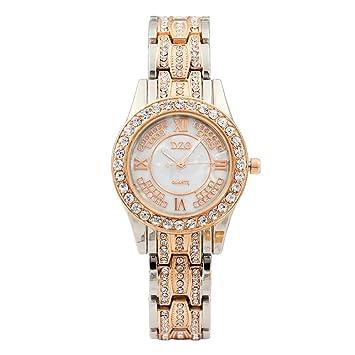 Malloom Relojes de señoras de Lujo Pulsera de Cuarzo de Metal Pulsera para Mujeres Relojes (