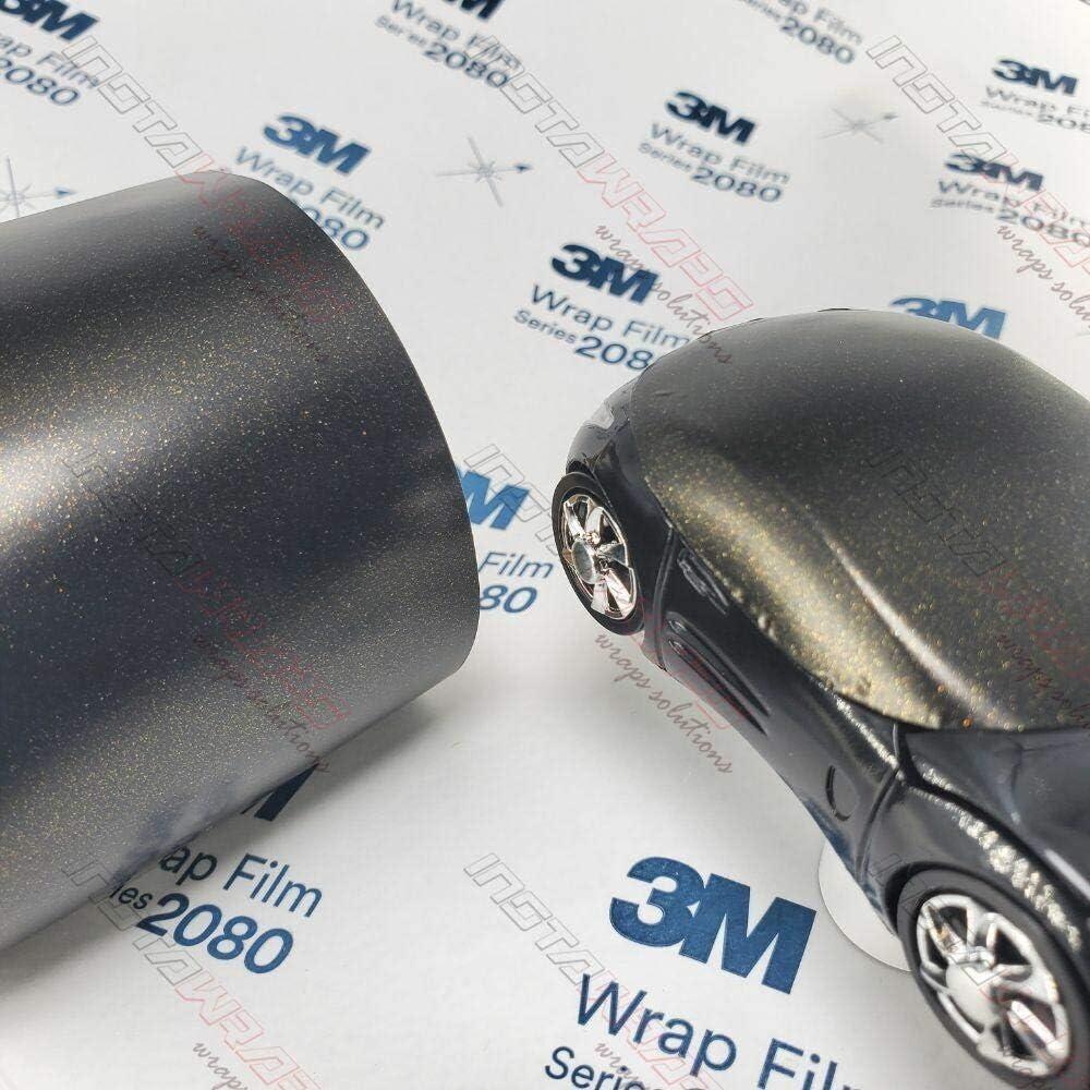 3M 1080 Satin Gold Dust Black | SP242 | Vinyl CAR WRAP Film (Sample 2.5in x 4in)