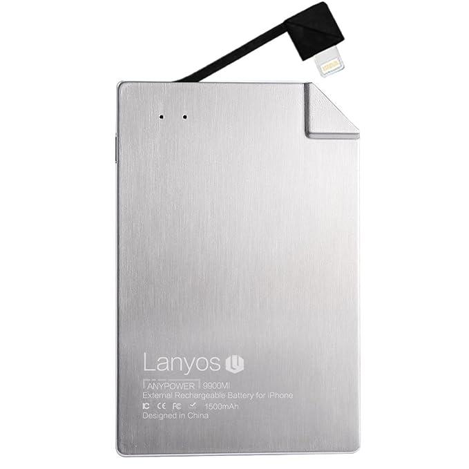 Lanyos - Cargador de batería externo portátil de tamaño más ...