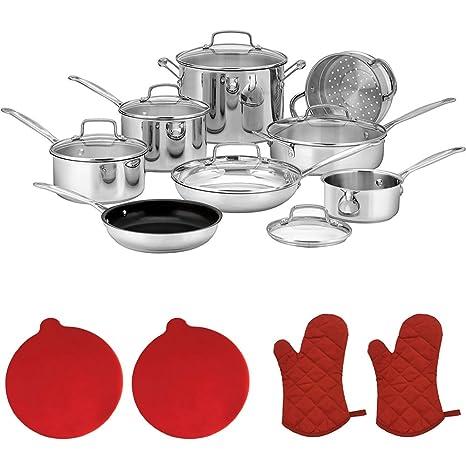 Cuisinart 77 – 14 N CHEF de Classic (14 piezas), acero inoxidable +