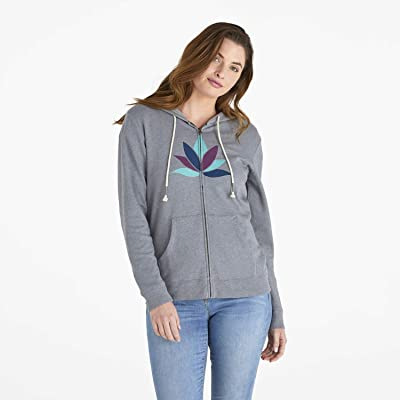 Life is Good Women's Simply True Zip Up Hoodie Sweatshirt: Clothing