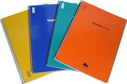 10 Cuadernos tapa dura, folio, cuadro 4 mm, 80 hojas: Amazon.es ...