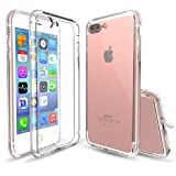 ieGeek iPhone 7 Plus ケース 耐衝撃 [ 落下 衝撃 吸収 ] 薄型 軽量 ストラップ ホール 付き アイフォン 7 プラス 用 カバー 液晶保護フィルム 付き (5.5インチ, クリア)