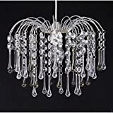Chandelier Chic Ceiling Light Pendant Shade Crystal Droplet Fitting Easy Fit (TEARDROP CLEAR PENDANT SHADE)