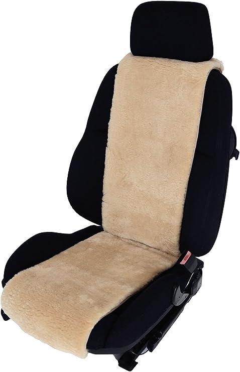 Autositz Auflage Aus Echtem Merino Lammfell Für Ledersitze 30cm Breite X 138cm Länge Farbe Sekt Auto