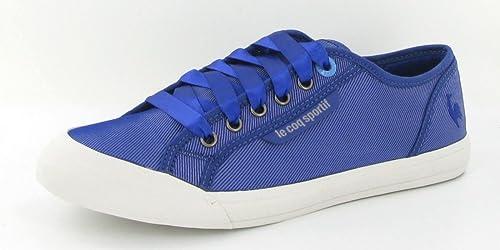 DEAUVILLE más METAL satinado-zapatillas para mujer, diseño de Le Coq Sportif, Morado