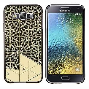 LECELL--Funda protectora / Cubierta / Piel For Samsung Galaxy E5 E500 -- Arte Artesanía Encaje Talla --