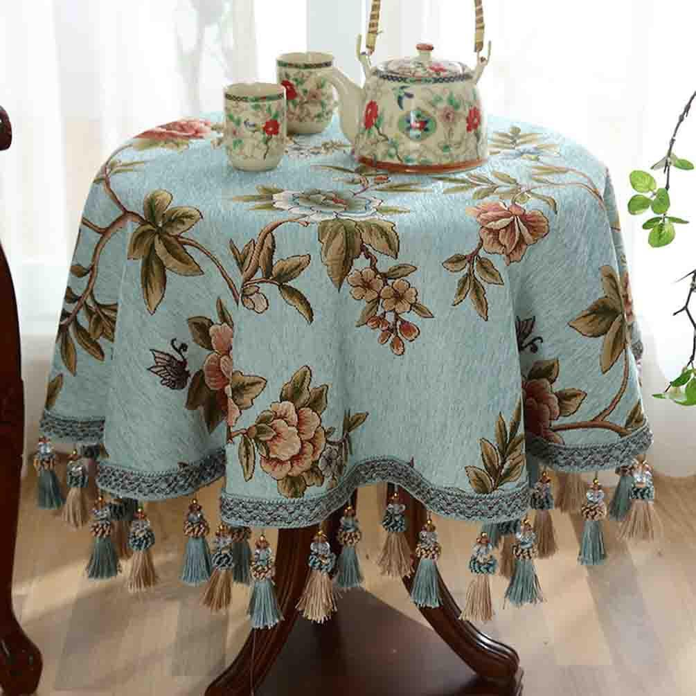 Tischdecke runden Stoff Esstisch Tischdecke Kaffeetisch Tischdecke , 002 , diameter 200cm B07BMXF2NK Tischdecken Erste Gruppe von Kunden    Ästhetisches Aussehen