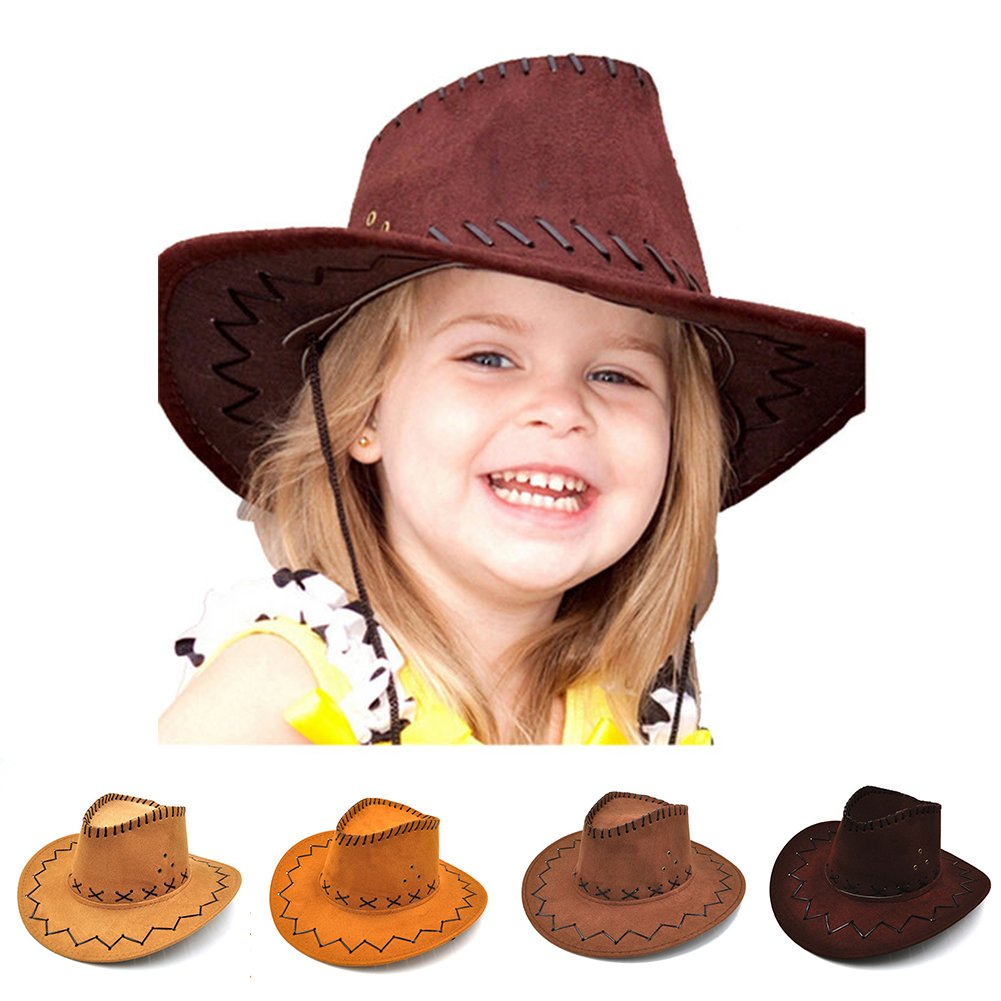 942b110d43c48 Cowboy Hat Boys Girls Halloween Sunshade Party Costumes Prints ...