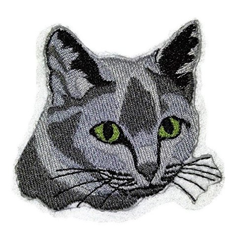 Amazing Custom Cat Portraits[Russian Cat Face ] Embroidered Iron On/Sew patch [3