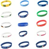 Fulol World Cup Flag Silicone Bracelet, 2018 Russian World Cup Sports, Flags Wristband 14 Countries Available for Soccer Football Fans Unisex Design Soft and Durable Wristbands