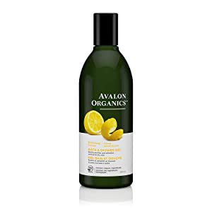 Avalon Organics Refreshing Lemon Bath & Shower Gel, 12 oz.