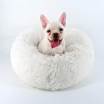 MTHDD Cama para Mascotas Plush Redonda Nido de Donut con ...