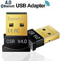 eErlik Gold Plated Wireless Mini USB CSR 4.0 Bluetooth Receiver for PC Support Windows OS 32/64 Bit