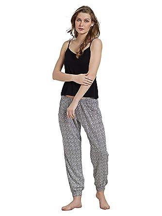 Mystere Paris Ribbed Lounge Pant Viscose Loungewear Casual Women Ladies  Black White G284C at Amazon Women s Clothing store  807528410