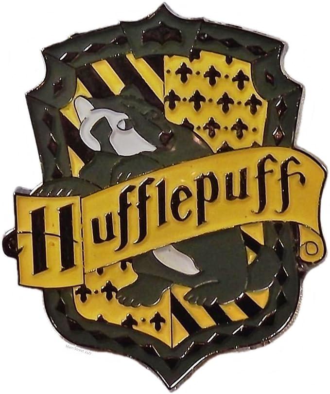Harry Potter Hufflepuff Logo Metal/acabado esmaltado Pin: Amazon.es: Ropa y accesorios