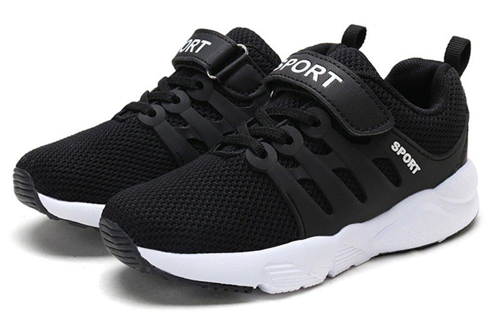 VECJUNIA Boy's Girl's Trendy Low Top Round Toe Anti-Slip Outdoor Sports Shoes (Black Double, 5.5 M US Big Kid) by VECJUNIA (Image #3)