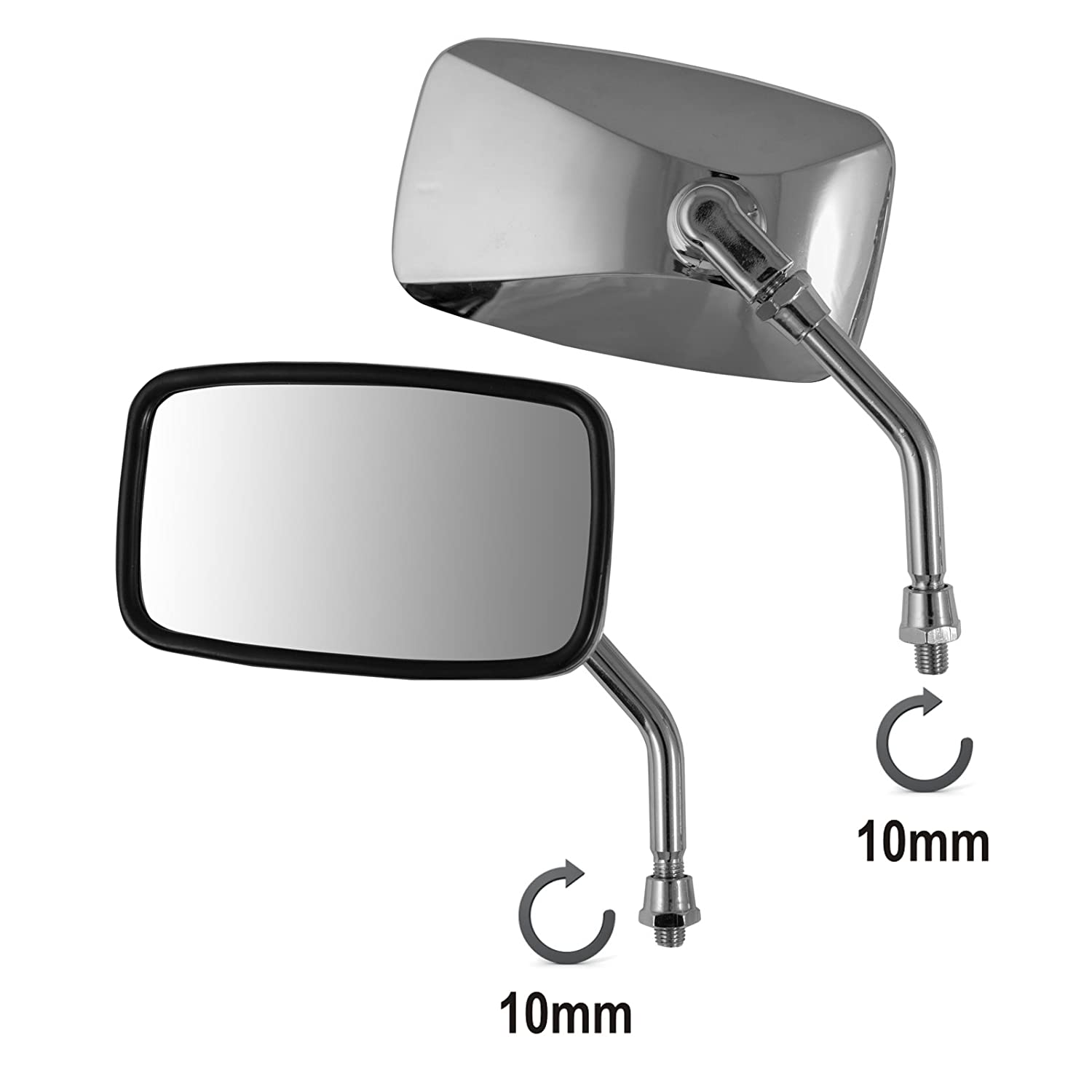 A Mirrors Rearview Pro universale per motorino scooter Motorcycle Motorbike Chrome M10 A-Pro 5180000079840