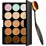 Okayji 15 Colors Contour Face Cream Makeup Concealer Palette + Make up Brush