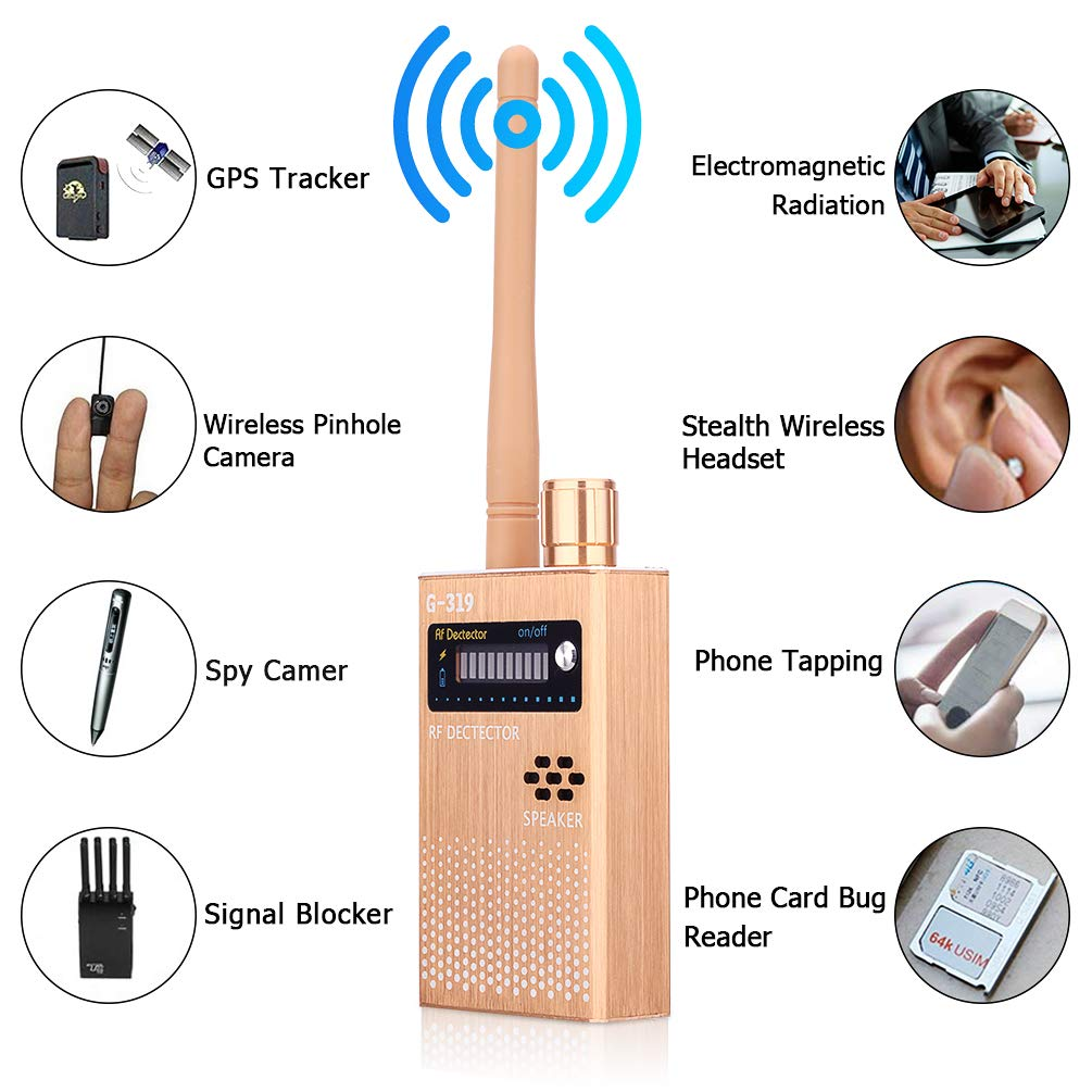 Anti-Spy Camera Detector Wireless RF Signal Detector Bug GPS Camera Signal Detector,for Hidden Camera GSM Listening Device GPS Radar Radio Scanner Wireless Signal Device Finder [2019 Latest Upgrade]