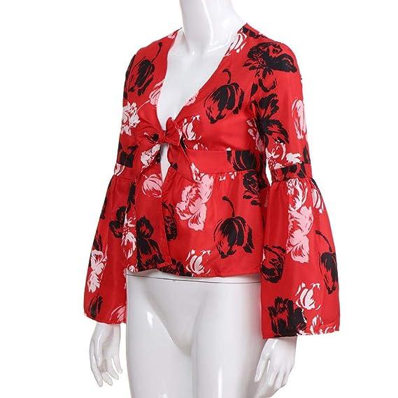 Beladla Camisas Mujer Manga Larga Blusas Camiseta De Gasa Casual SeñOras Volantes Tops Irregulares NiñA: Amazon.es: Ropa y accesorios