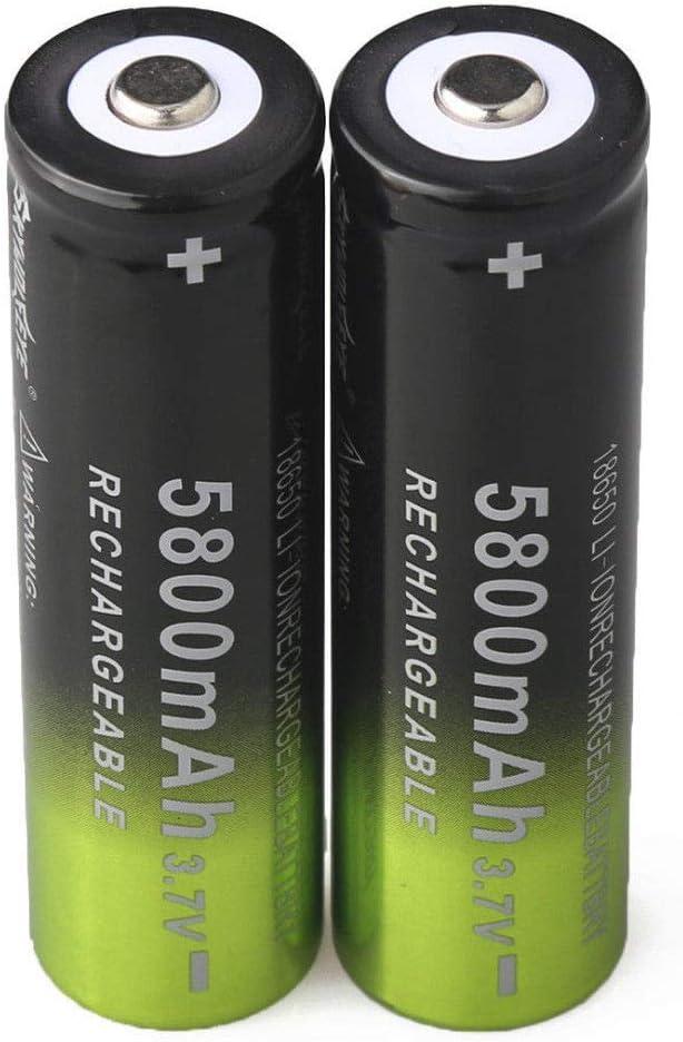 Emergency Lighting 8pcs 3.7V Li-ion Rechargeable 5800mAh 18650 Battery Button Top Batteries for Led Flashlight Headlamp