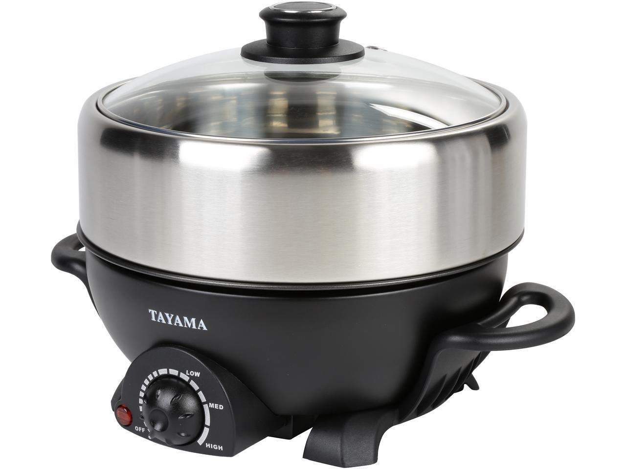 TRMC-40 Shabu and Grill Multi-Cooker, 4 quart, Black Tayama