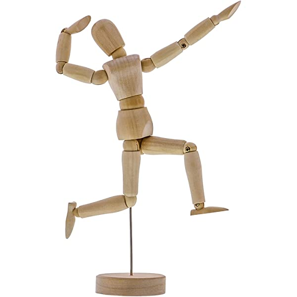 Amazon Com Us Art Supply Wood 8 Male Artist Drawing Manikin Articulated Mannequin With Base And Flexible Body Perfect For Drawing The Human Figure 8 Male