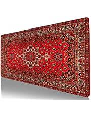 Persisk matta stor spelmusmatta datortangentbord musmatta skrivbordsmatta med halkfri bas och sydd kant för hemmakontor spelarbete