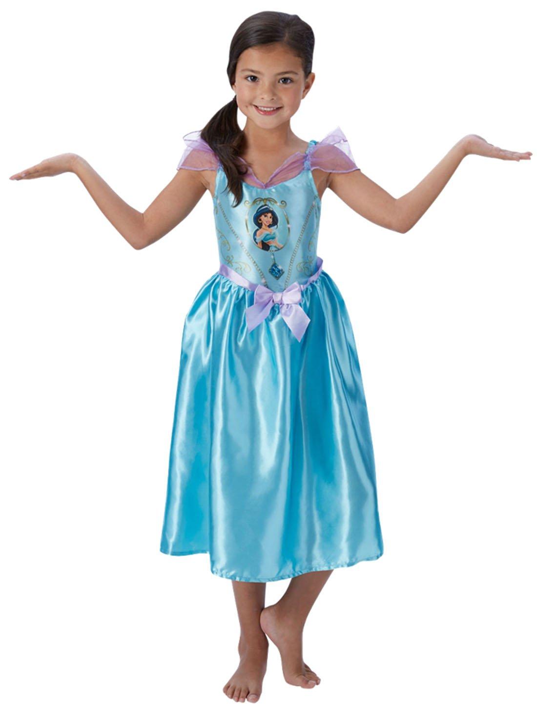 Halloweenia - Mädchen Kostüm Karneval Prinzessin Fairytale Jasmine, Aladdin Hellblau, Größe 122-128, 7-8 Jahre B074W86JZR Kostüme Adoptieren | Deutschland Frankfurt