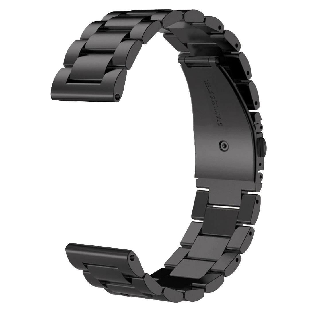 Gear Sport/Gear S2 Classic Band - V-Moro 20MM Metal Black Bands Premium Solid Stainless Steel Business Replacement Bracelet Strap Samsung Gear Sport SM-R600 / Samsung Gear S2 Classic Smartwatch