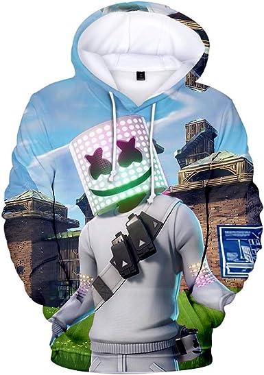 Xmas Marshmello Hoodie Kid Hooded Jumper Sweatshirt Pullover Coat Jacket Outwear