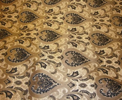 (upholstery Chenille Monte Cristo Black Damask Fabric with Gold fabrics 55