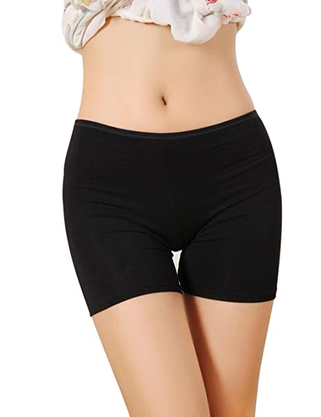 a8c6438d7fa8 Dozenla Women's Boyshorts Underwear Seamless Safety Panties Boxer Briefs  Lace Trim Yoga Shorts at Amazon Women's Clothing store: