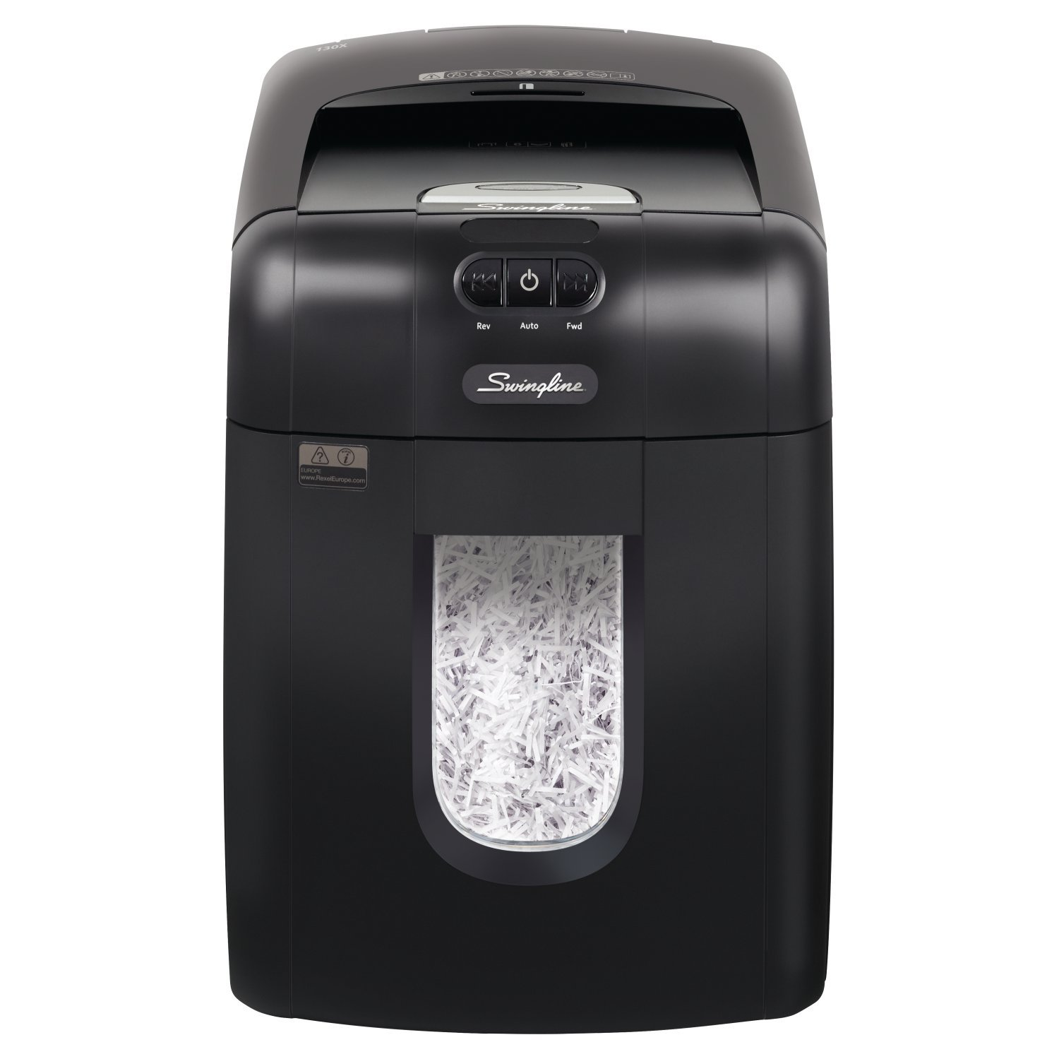 Swingline Paper Shredder, Auto Feed, 130 Sheet Capacity, Super Cross-Cut, 1-2 Users, Stack-and-Shred 130X (1757571) by Swingline
