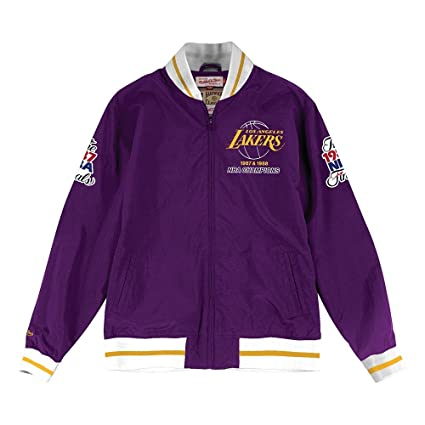 562f4a40292 Mitchell & Ness Los Angeles Lakers Team History Warm Up Jacket (XXX-Large)