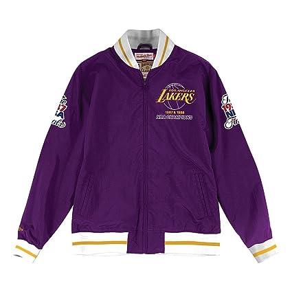 best service f26f4 fa8f5 Mitchell   Ness Los Angeles Lakers Team History Warm Up Jacket (XXX-Large)
